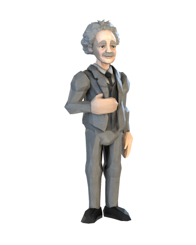 Xplorealms_3d_low_poly_Physics_Albert_Einstein